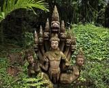 Figures with 7-headed naga (sacred serpent)