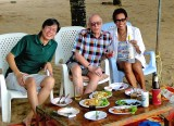 Feasting on the beach