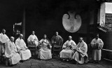 c. 1873 - The abbot and monks of Kushan Monastery