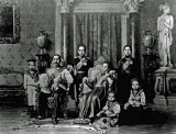 1890 - King Chulalongkorn with Queen Saovabha and their sons