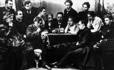 1898 - Chekov reading The Seagull to members of the Moscow Art Theatre