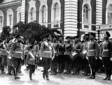August 1912 - Nicholas with Alexei reviewing the Imperial Guard