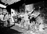 Austrian soldiers punishing Russians prisoners