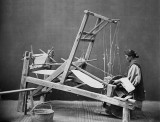 1870 - Woman weaving