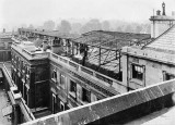 Air raid precautions on the roof of Buckingham Palace