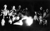 c. 1920 - Coolies eating dinner
