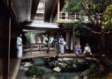1880's - Inner courtyard of a large tea house