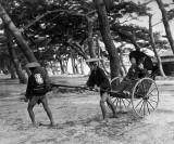 1880's - Riding in a rickshaw