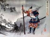 c. 1887 - Samurai in landscape