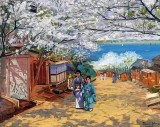 1893 - Cherry Blossoms, Yokohama