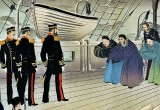 November 1895 - Chinese surrendering to Admiral Ito