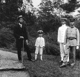 1921 - Emperor Taisho with his sons