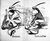 Editorial cartoon about the Boxer Rebellion