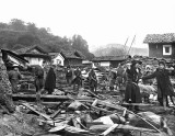 1896 - Damage from the Sanriku earthquake and tsunami
