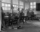 c. 1918 - Boys in print shop