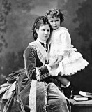 1870 - Nicholas with his mother Maria Feodorovna