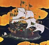 1600's - Portuguese trading ship in Nagasaki