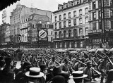 1914 - German troops crossing the Place Charles Rogier in Brussels