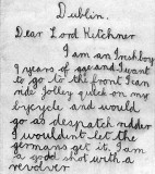 1914 - Letter to Lord Kitchener