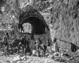 1918 - Austrian soldiers constructing a tunnel
