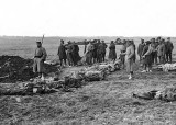 British prisoners burying British and German dead
