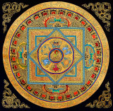 Mandala of the Buddha with auspicious symbols