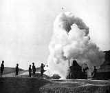 1904-5 - War with Russia - Japanese howitzer firing, Port Stanley