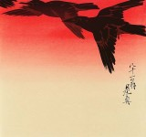 1888 - Crows in Flight at Sunrise