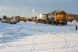 Freight 419 at Moosonee 2014 January 31st