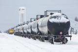 February 7th line of tanker cars at Moosonee station