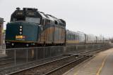 VIA 6428, F40PH-3 at Cobourg Ontario with train 51 headed to Toronto.