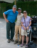 Raymond, Ashok, and Peggy in India