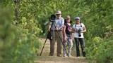 Harry, Maria, and Daisy on a hike