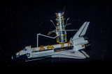 A model of the Hubble telescope being released