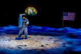 Depiction of the Apollo 11 moon landing