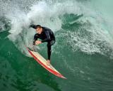 Surfing Huntington Beach