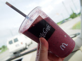 Blueberry Pomegranite Smoothie is yummy.