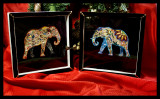 Embellished elephants in shadowboxes.jpg  GIFTS