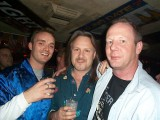 Jamie Crompton (center), Fender artist relations for England and Europe