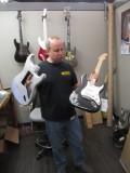 Scott Buehl with his aluminum designed Start prototype