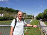 Dan over the Salzach River