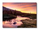 Sunrise at Mitchell Lake