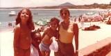 Guarapari - my kids, Iaiá and myself