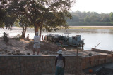 The Manambolo river ferry and the new slipway