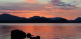 Loch Lomond sunset from Net Bay