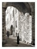 Woman near arch