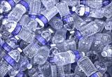 Water bottles on ice