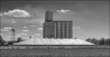 Grain Elevator and Covered Excess Grain,   Marquette, Kansas