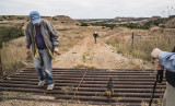 Crossing over a Cattle Guard