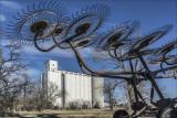 Wheel Rake and Grain Elevator